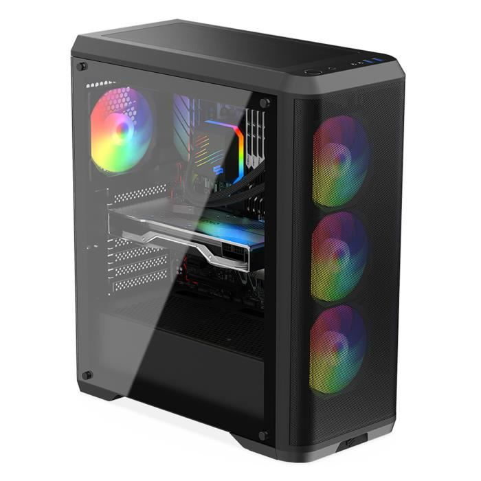 UNITÉ CENTRALE  PC Gamer, AMD Ryzen 7, RX570, 2To HDD, 16 Go RAM,