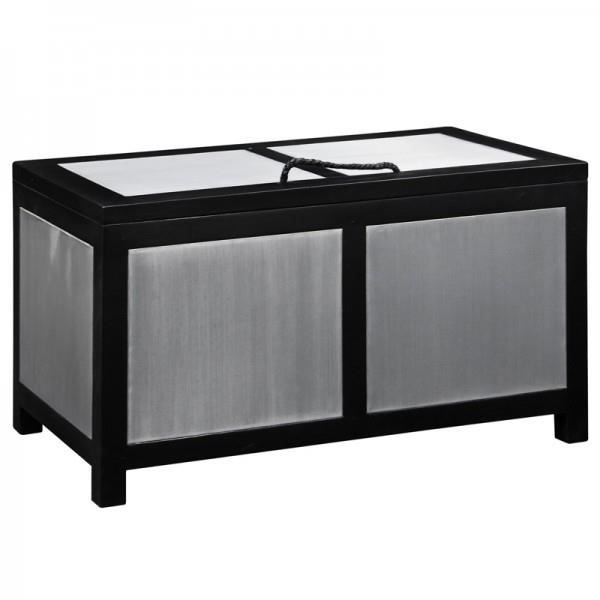 coffre bois m tal docker achat vente coffre malle. Black Bedroom Furniture Sets. Home Design Ideas