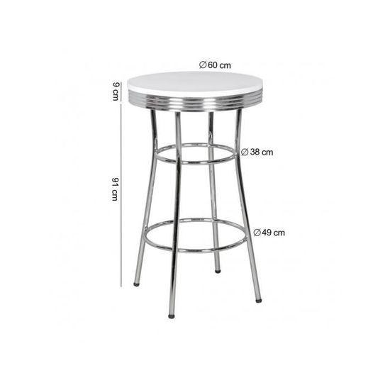 de des bar 50 Table en années cm 60 design ronde vintage 4j3L5RAq