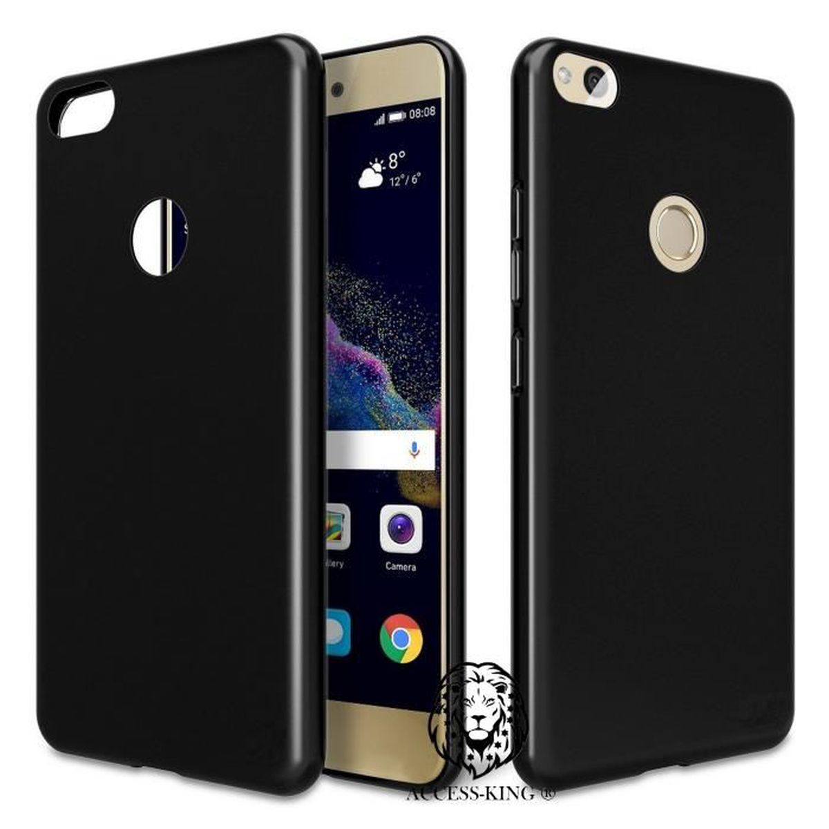 coque huawei p8 lite 2017 ultra thin tpu silicone mat noir. Black Bedroom Furniture Sets. Home Design Ideas