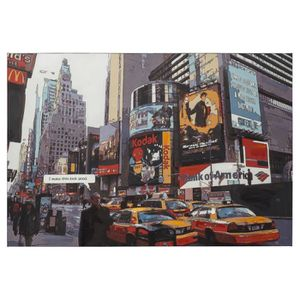 TABLEAU - TOILE Tableau design 'BUSY' time square New York sur ...