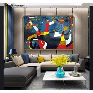 TABLEAU - TOILE Picasso Célèbre Peinture Abstraite Décoration De L