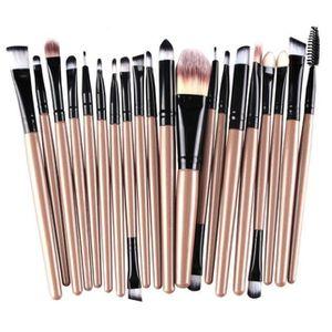 PINCEAUX DE MAQUILLAGE outils 20 pcs pinceau de maquillage Set de maquill