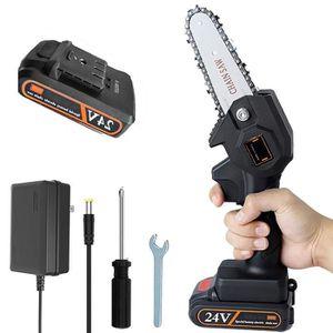 Tron/çonneuse sans fil de 12 pouces mini tron/çonneuse /électrique portable scie /à cha/îne portative avec batterie au lithium rechargeable pour le jardin d/élagage de branche darbre