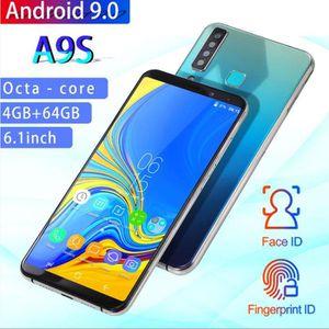 SMARTPHONE Bleu Téléphone portable d'origine A9S Pro 6.1 pouc