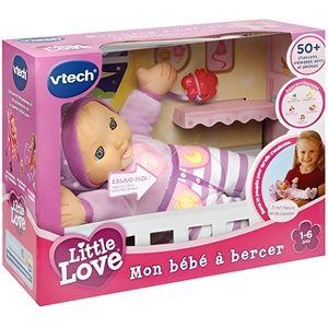 POUPON Bébé à bercer-Little Love-marque VTECH-S'endort qu
