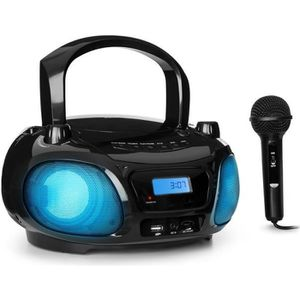 RADIO CD ENFANT auna Roadie Sing Boombox lecteur CD CD-RW MP3 avec