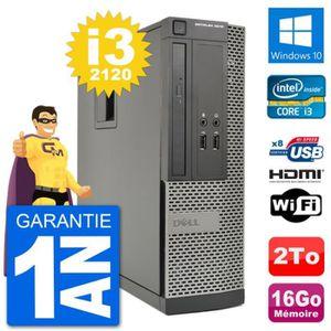 ORDI BUREAU RECONDITIONNÉ PC Dell OptiPlex 3010 SFF Intel i3-2120 RAM 16Go D