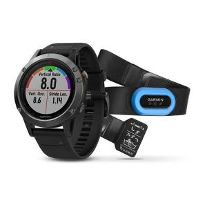 Montre connectée sport GARMIN Montre GPS Fenix 5 Performer Bundle Gris et