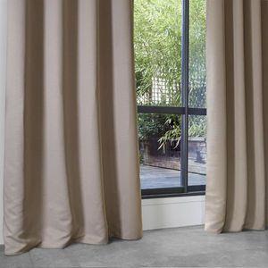 RIDEAU Rideau Occultant Uni en Polyester Lin 140 x 260 cm