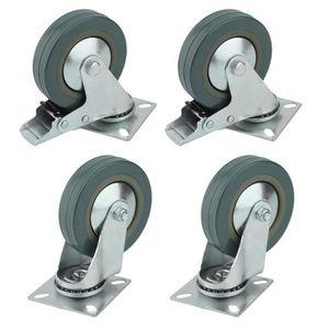 ROUE - ROULETTE 4PCS roulettes pivotantes pour meuble -100mm - En