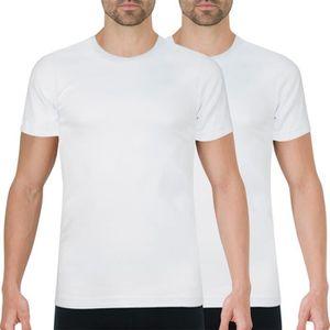 T-SHIRT Lot de 2 Tee-shirts col rond bla…