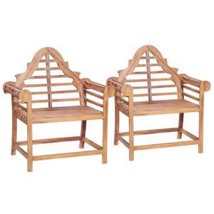 CHAISE Lot de 2 Chaise de jardin 2 pcs Fauteuil Jardin 91