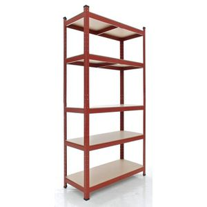 etagere metallique rouge. Black Bedroom Furniture Sets. Home Design Ideas