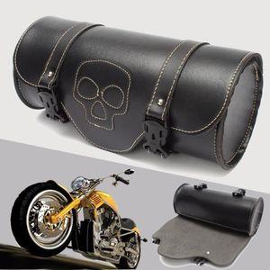Ensemble de sacoches de moto inclin/ées en cuir PU 2 pi/èces Accessoires de moto Ensemble de sacoches de moto