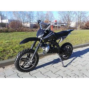 MOTO Mini moto cross enfant enduro 49cc noir