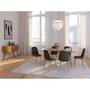 EUGAD Lot de 2 Chaises de Salle /à Manger en Velours et Bois Massif,Chaise pour Salon Cuisine Rose 0303BY-2