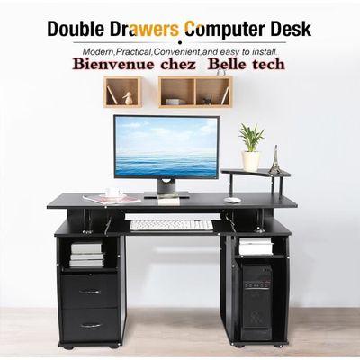 meuble pc informatique noir table multimédia Bureau 7y6gbfY