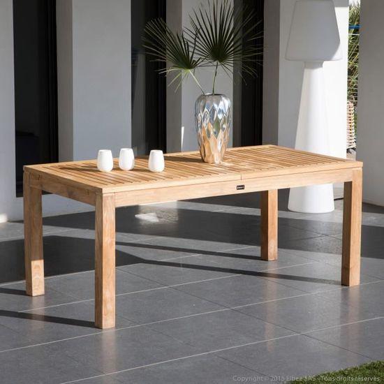 Table de jardin extensible en Teck Brut 180/240x90cm 6 à 8 ...