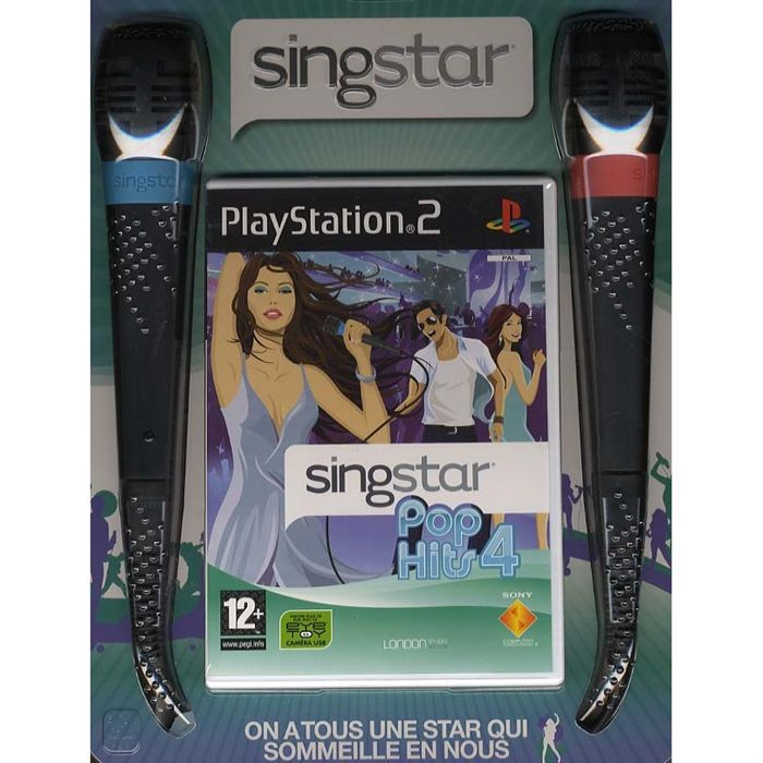 SINGSTAR POP HITS 4 + MICROS / JEU CONSOLE PS2