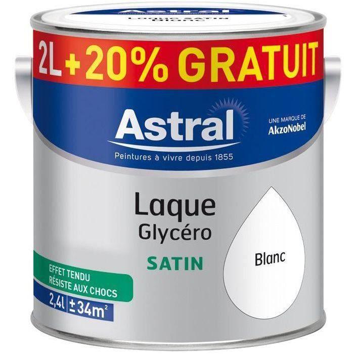 Laque satin 2L + 20% gratuit blanc