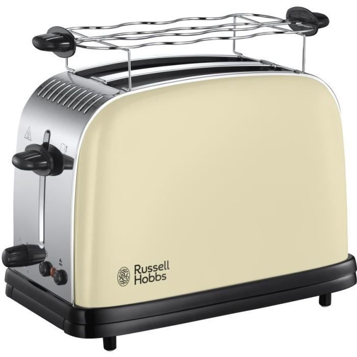 RUSSELL HOBBS 23334-56 Toaster Grille Pain Colours Plus, Cuisson Rapide Uniforme, Contrôle Brunissage, Chauffe Vionnoiserie Inclus -