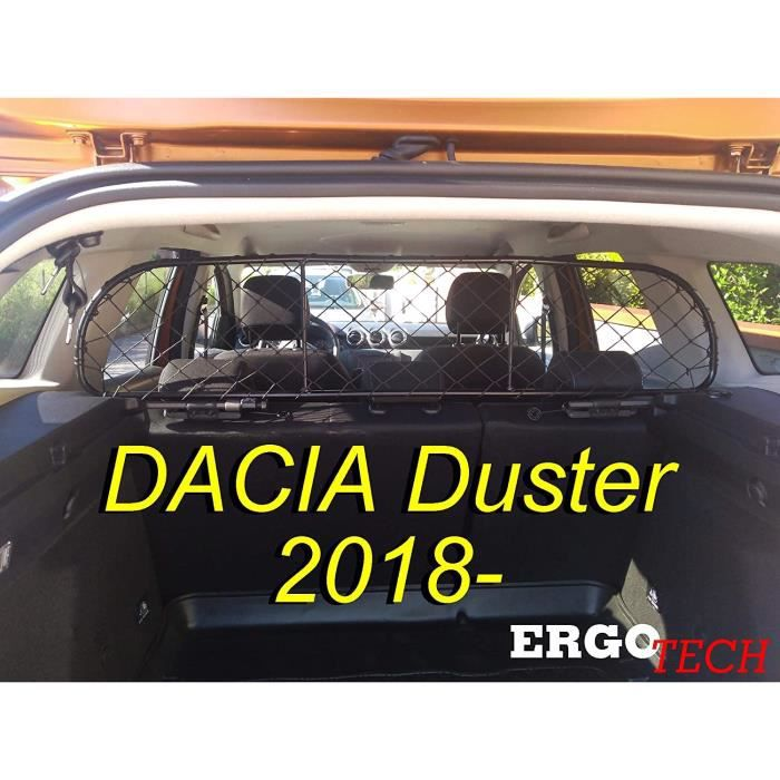 Filet Grille de séparation Coffre pour DACIA Duster RDA65-S14, pour Chiens et Bagage. Sûr, Confortable pour Votre Chien, Garantie!
