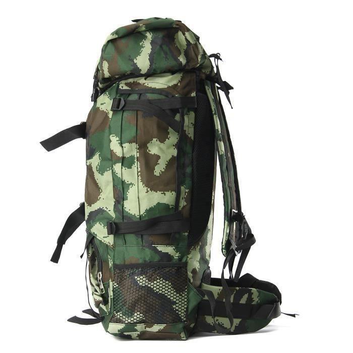 90L Sacs à Dos De Sport imperméable escalade randonnée militaire tactique Camping Alpinisme Camo vert herbe Bo58406