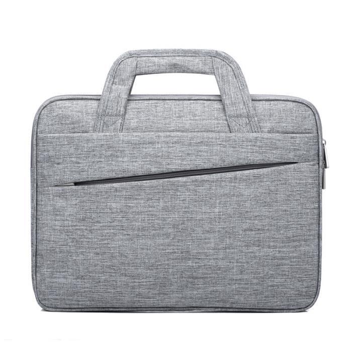 PORTE-DOCUMENTS - SERVIETTE - ATTACHE-CASE,Crossten 15.6 pouces sacoche pour ordinateur Portable hommes femmes sac à - Type D Gray