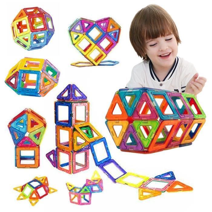 Maquette,50 pièces blocs de Construction magnétiques modèle de Construction jouet concepteur ensemble de Construction aimants blocs
