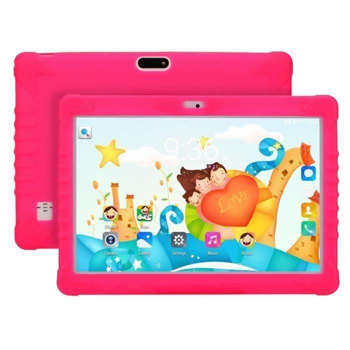 Tablet PC pour enfants Android 6.0 1 + 16 Go IPS 10.1Inch Bluetooth WIFI Bundle Case EU