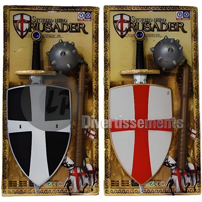 kit d'accessoires de chevalier pour enfant mix 3 pièces