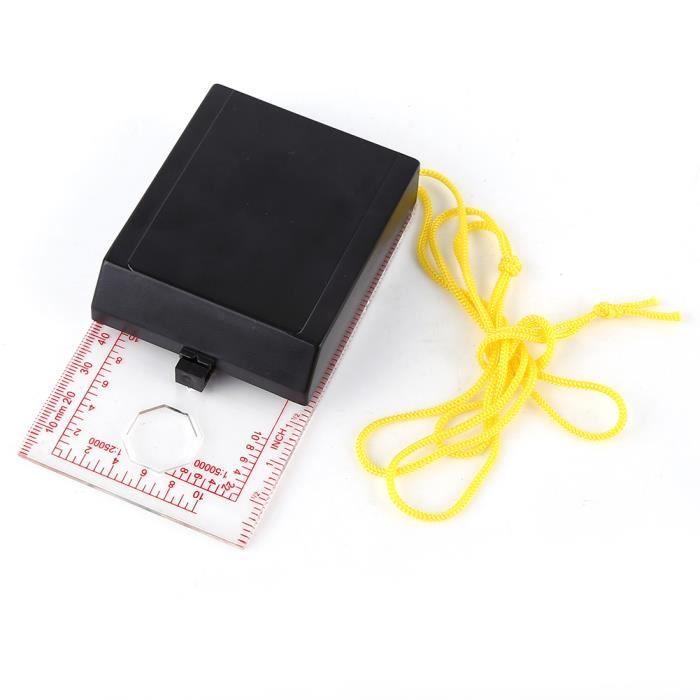 Équipé d'une loupe, d'une boussole en plastique avec règle, d'un kit d'urgence multifonctionnel pour boussole, pour les voyages