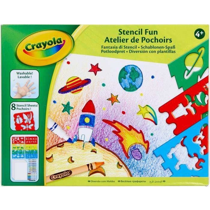 Crayola Atelier de Pochoirs - Loisir créatif