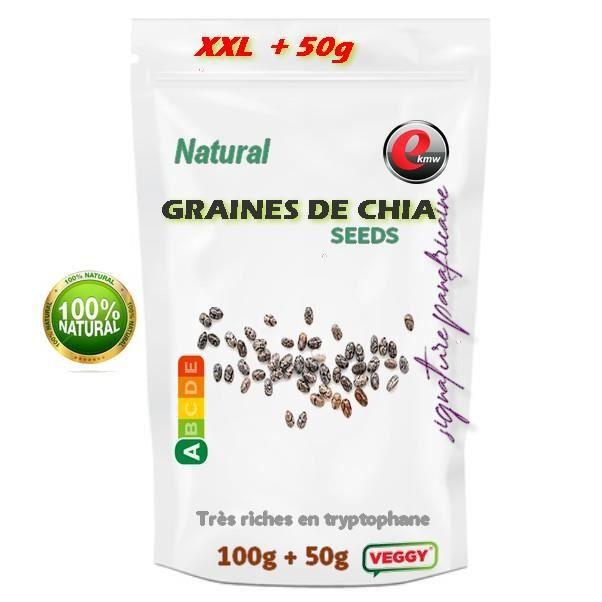 Graines de Chia - Signature panafricaine - 100g + 50g gratuits