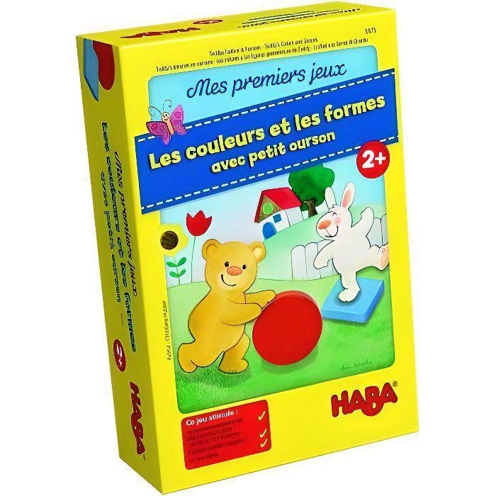 HABA - Mes premiers jeux– Les couleurs et les formes avec petit ourson - Version Française