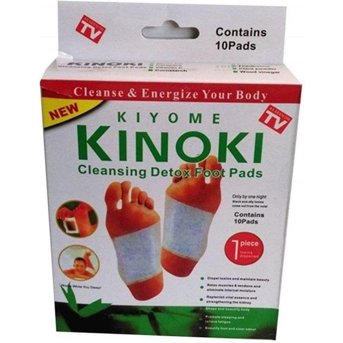 10 x patches détox Kinoki pour les pieds aux Herbes Naturelles détoxifiant Naturel - 5010035334754