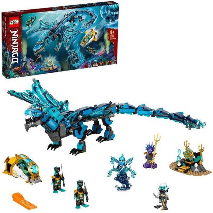 LEGO® 71754 NINJAGO® Le dragon de l'eau – Jeu de Construction Ninja pour Enfants de 9 ans et plus