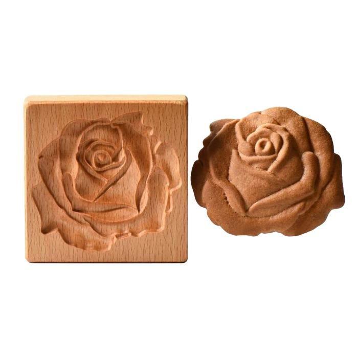 Bakery Mould - Plate Moule À Biscuit Cône-Provence Rose Sablé Pain D'Epice En Bois MIL2