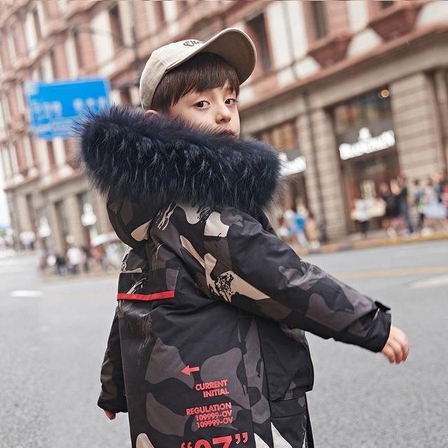 Manteaux de Camouflage pour adolescents et adolescents manteaux à capuche matelassés
