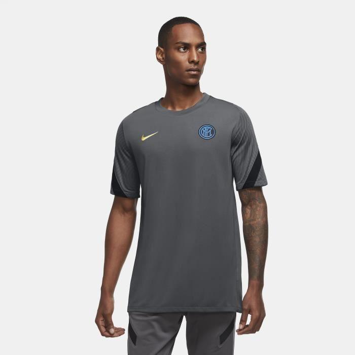 Maillot Inter Milan Strike 2020/21 - gris foncé/noir/jaune - L