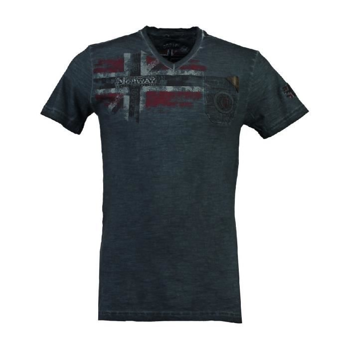 Tshirt Homme Geographical Norway Joujours Marine