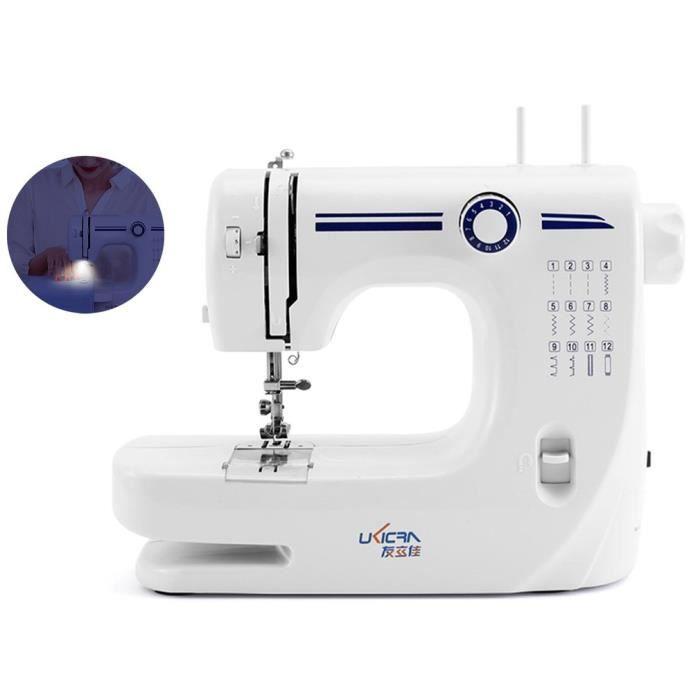 Machine à Coudre électrique pour Débutants, Portable, 12 Points différents, Couture automatique, points utiles @N