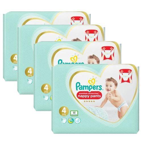 Pampers - 152 couches bébé Taille 4 premium protection pants