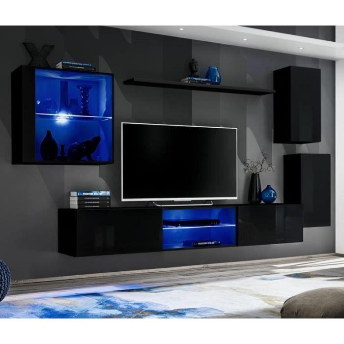 Ensemble Meuble Tv Design -switch Xxiii- 250cm Noir - Paris Prix