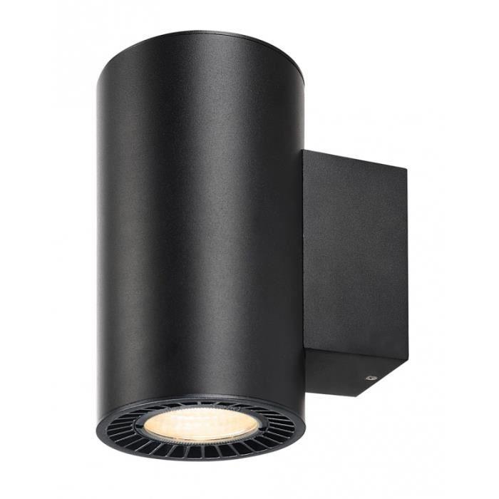 SUPROS, applique up down, rond, noir, 3000K, SLM LED, réflecteur 60°