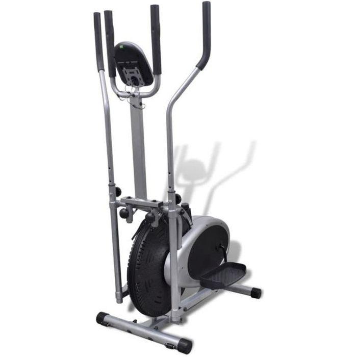 Vélo elliptique - 4 poteaux - Pouls - 1 100 x 500 x 1 550 mm 100 kg - noir FOR-9112571262754