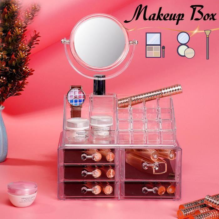 Boîte Cosmétique Acrylique Rangement de Maquillage Stockage Présentoirs