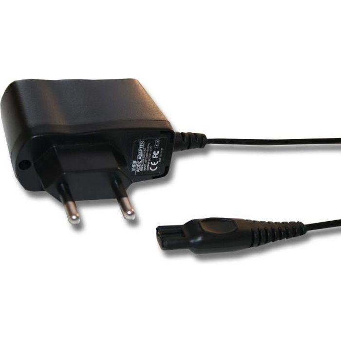Chargeur pour rasoir Philips - Input : 100V - 240V - Output : 15 V (0.4A) - Couleur : noir - De la marque VHBW