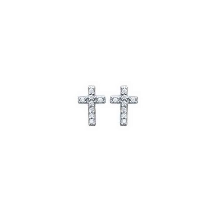 tendance bijouterie boucles d 39 oreilles croix argent. Black Bedroom Furniture Sets. Home Design Ideas